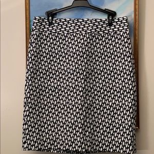 Banana Republic geometric print skirt